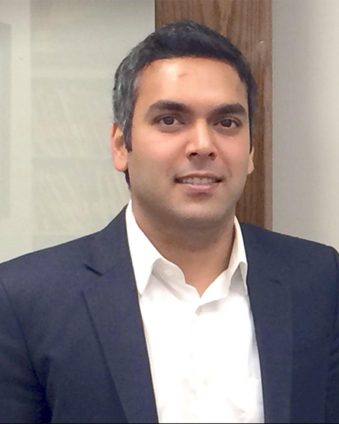 Aniruddh Narvekar smiling to camera