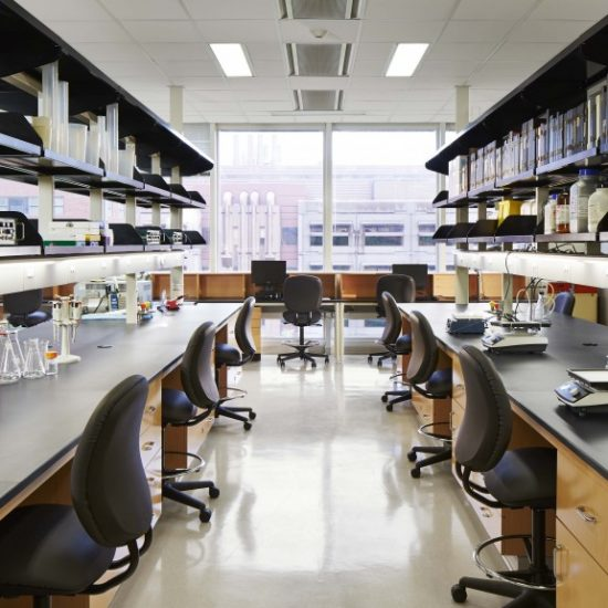 Empty research lab