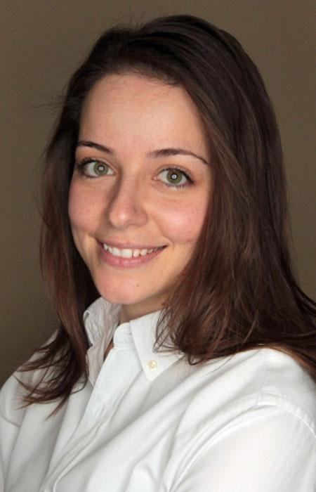 Foteini Touloumi smiling to the camera