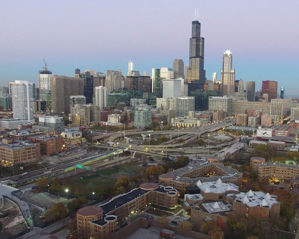 view of chicago city