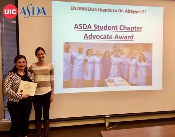 ASDA Honors Dr. Sahar Alrayyes