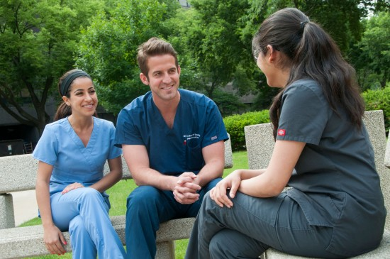 group of dentist chatting