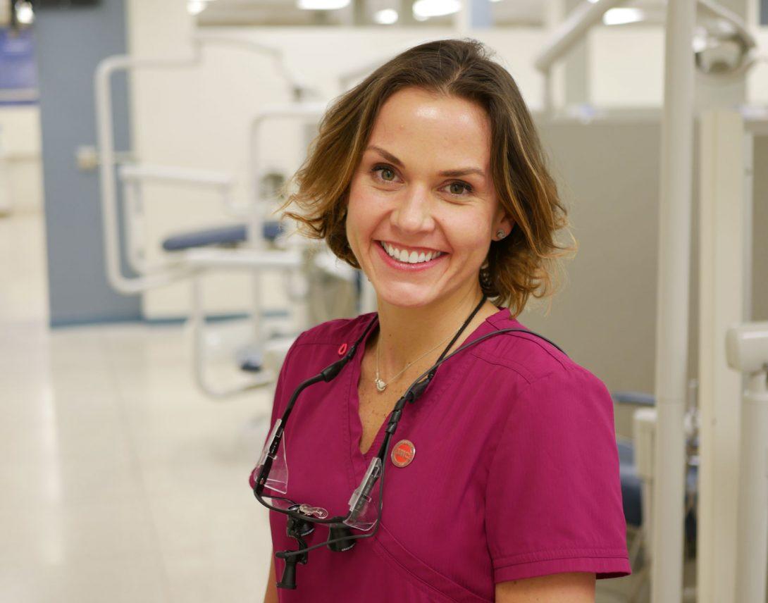 dentist smiling to camera