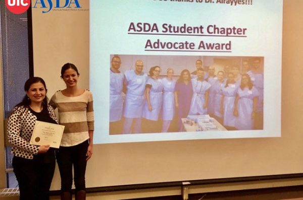ASDA Honors Faculty for Community Outreach