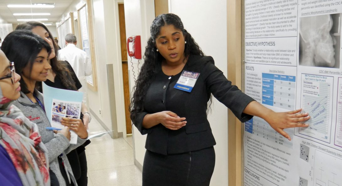 Orthodontic Residents Sharing Research Achievement at UIC COD Clinic and Research Day