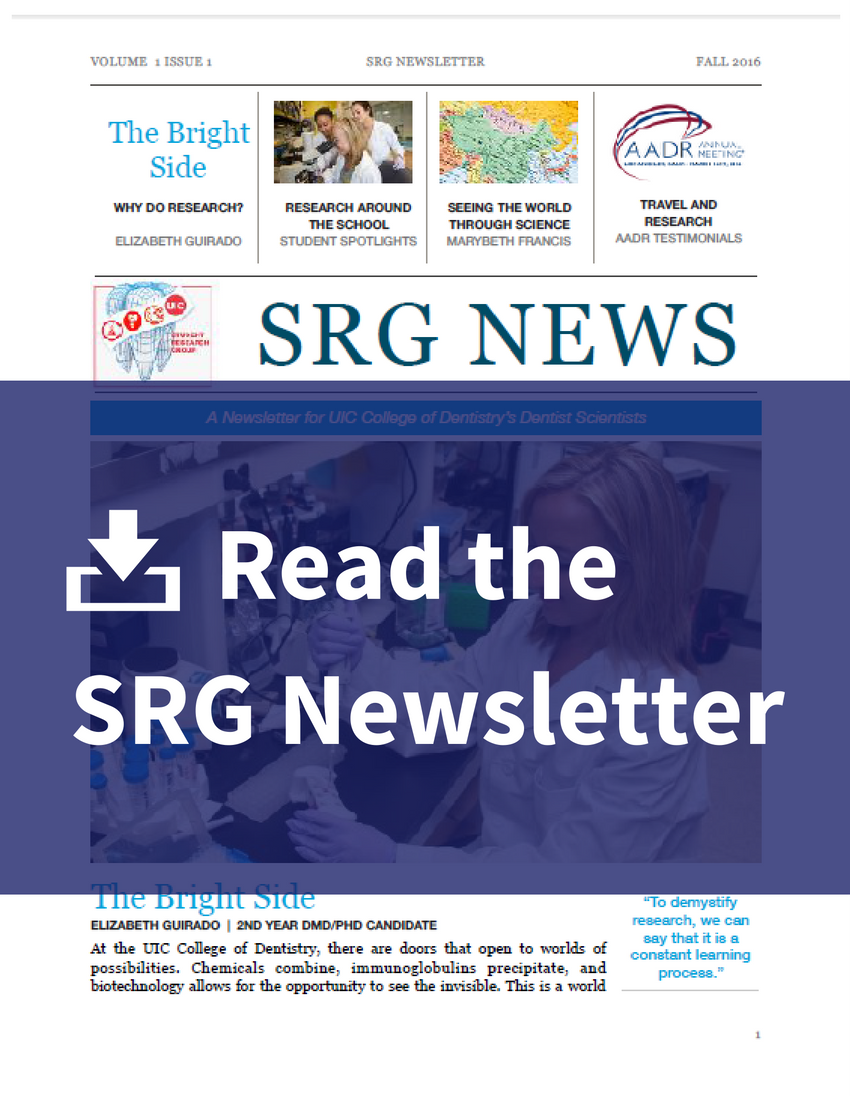 Read the SRG Newsletter