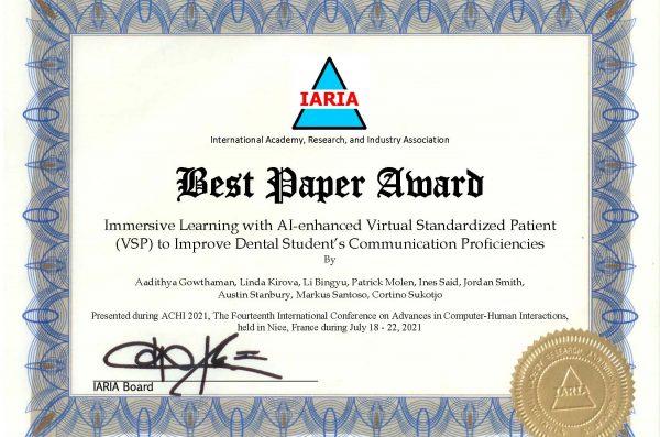 Best Paper Award